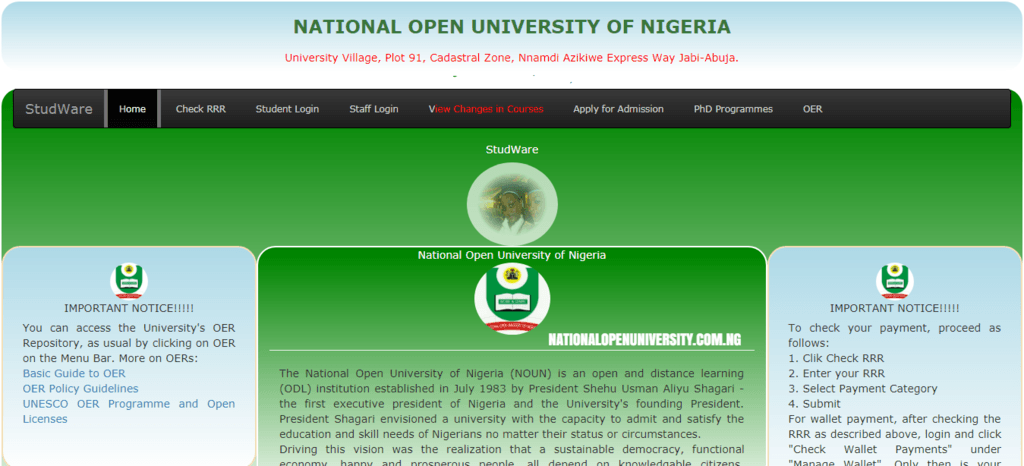 National Open University Admission Letter Printing
